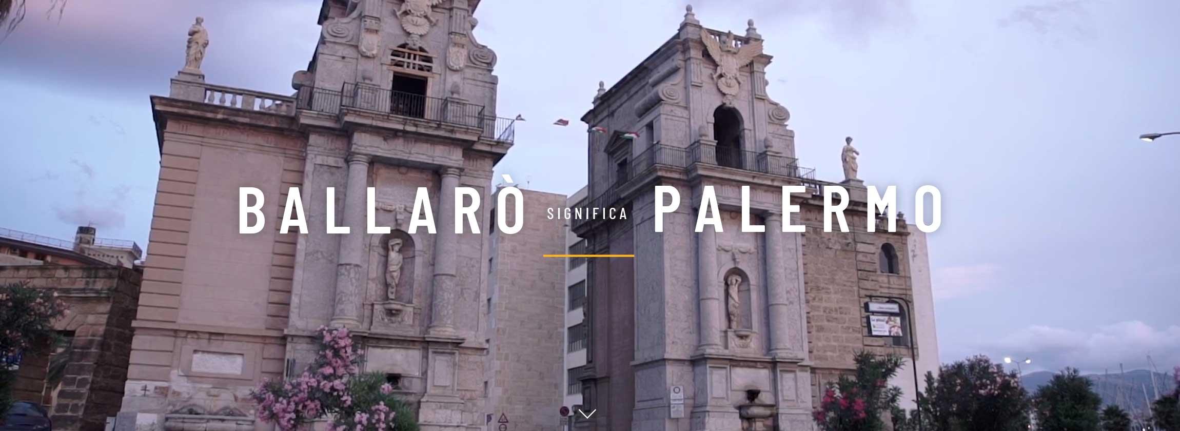 'BALLARO' SIGNIFICA PALERMO 2018'